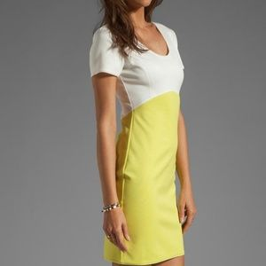 Halston Off-white & Lemonade Casual Dress